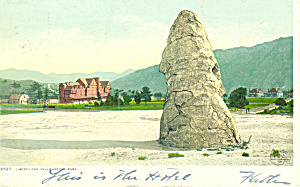 Liberty Cap,Yellowstone National Park,WY Postcard 1907 (Image1)