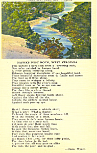 Hawk Nest Rock, West Virginia Postcard