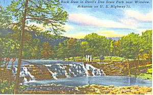 Rock Dam, Devil's Den State Park, AR Postcard (Image1)