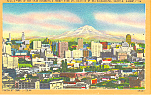 Business District, Seattle, WA Postcard (Image1)