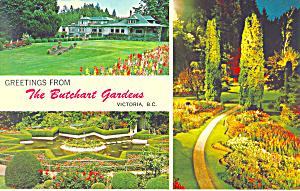 Butchart Gardens Victoria BC Canada Postcard p19110 (Image1)
