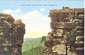 Pulpit Rock, Cheaha State Park,Alabama Postcard (Image1)