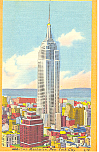 Empire State Building New York City NY Postcard p19123 (Image1)