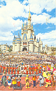 Walt Disney World Florida Cinderella Castle Postcard 19 (Image1)