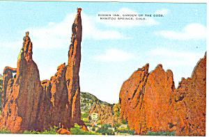 Hidden Inn Garden Of The Gods Colorado Postcard p19153 (Image1)