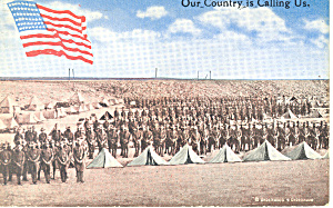 Us Army Troops Camping Scene Postcard P19163
