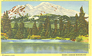 Mt Shasta California Postcard p19170 (Image1)