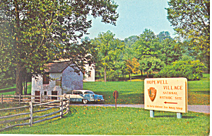 Hopewell Village PA Postcard p19176 1956 Olds (Image1)