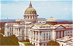 Harrisburg PA State Capitol  Postcard p1917 (Image1)