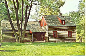 Daniel Boone Cabin,Baumstown,PA Postcard (Image1)