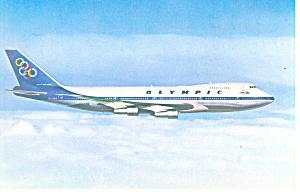 Olympic Airways Boeing 747 Postcard p19208 (Image1)