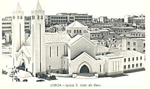 Igreja S.Joao de Deus Lisbon  Portugal Postcard p19229 (Image1)