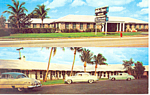 White Caps Motel Rivera Beach Fl Postcard P19240 Cars 50s