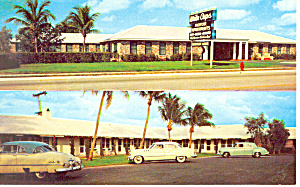 White Caps Motel Rivera Beach Fl Postcard P19242 Cars 50s