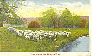 View Along the Lincoln Way PA Postcard p19258 (Image1)