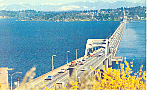 Lake Washington Floating Bridge, Washington Postcard (Image1)