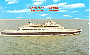 Cape May Lewes DE Ferry Postcard p19275 (Image1)