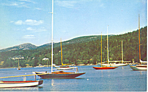 Sailboats at Northeast Harbor, ME Postcard (Image1)