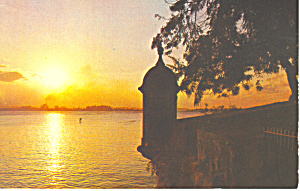 Beautiful Sunset San Juan  Puerto Rico Postcard p19282 (Image1)
