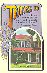 Only One Fort Myers Florida Postcard p19283 (Image1)