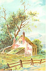 Artwork of a Rural Cottage Postcard p19287 (Image1)