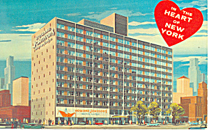 Howard Johnson s Motor Lodge New York City NY Postcard p19293 (Image1)