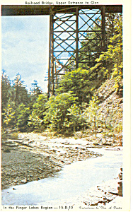 Railroad Bridge,Glen Gorge, New York Postcard (Image1)