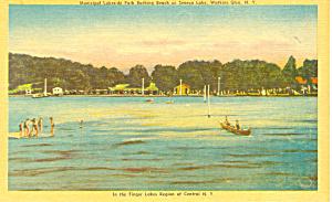 Lakeside Park Seneca Lake New York Postcard p19316 (Image1)