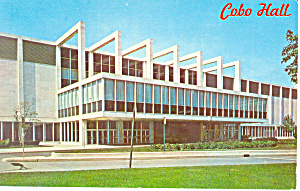 Cobo Hall Detroit Michigan Postcard P19323