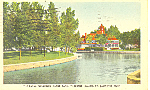 Wellesley Island Farm Thousand Islands New York Postcard p19327 (Image1)