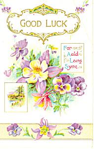 Good Luck for Auld Lang Syne Postcard p19331 (Image1)