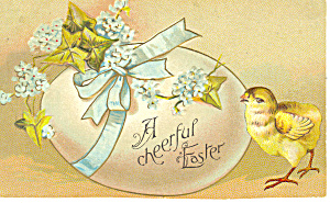 Easter, Postcard with Chick and Egg 1913 (Image1)