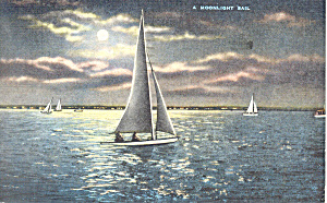 A Moonlight Sail Postcard p19345 (Image1)