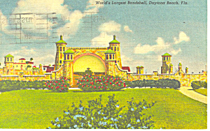 World S Largest Bandshell Daytona Beach Fl Postcard P19347