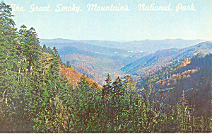 Great Smoky Mountains National Park NC Postcard p19401 (Image1)