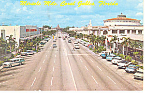Miracle Mile Coral Gables Florida p19428  Cars 50s  (Image1)