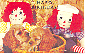 Happy Birthday Raggedy Ann/Andy Postcard p19488 (Image1)