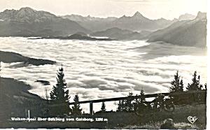 Wolkin Meer uber Salzburg vom Galsberg Austria  RPPC p19525 (Image1)