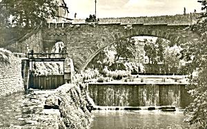 Pforzheim Dillweissenstein Wasserfall Germany RPPC p19526 (Image1)