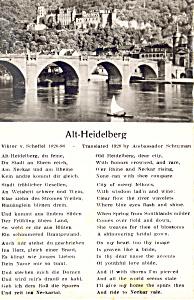 Poem Alt Heidelberg Germany RPPC p19530 (Image1)