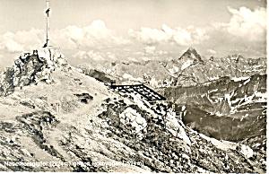 Nebelhorngiptel gegen Hochvogel Austria RPPC (Image1)