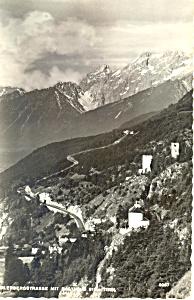 Zirlerbergstrasse mit Rasthalus Tirol Austria RPPC p19557 (Image1)