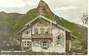 Oberammergau Germany Ratkappchen Haus RPPC p19562 (Image1)