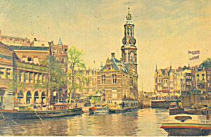 Amsterdam Netherlands Munttoren RPPC p19569 (Image1)
