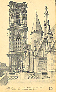 Saint Cyr Cathedral And Tower Nevers France P19574