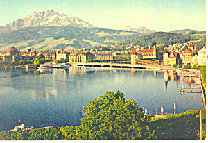 Lucerne Switzerland Lucerne And Mount Pilatus P19600