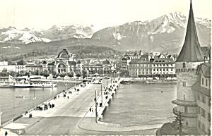 Luzern Switzerland Seebrucke and Bahnof p19668 (Image1)