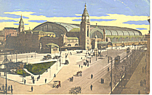 Hamburg Germany Railroad Station P19710