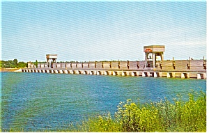 Iroquois Dam St Lawrence Power Project Postcard p1975 (Image1)