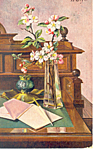 Still Life Signed By A Geyer Postcard P19798